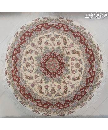 فرش دستباف دایره  دستباف قطر1.5متر تبریز دایره و مربع
