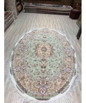 فرش بیضی   طرح شوردی 3*2تبریز  دایره و مربع