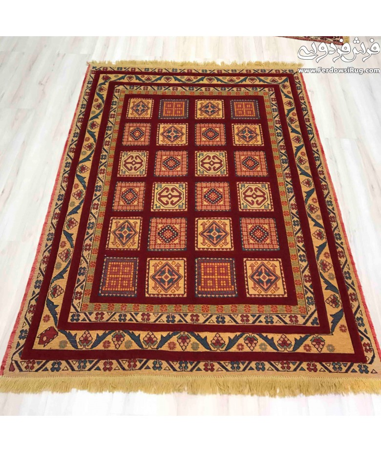 Hand made rug kilim design sirjan iran for Kilim designs