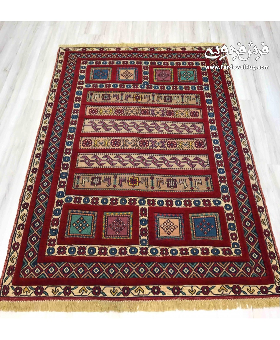 Hand made rug kilim design mashhad iran for Kilim designs