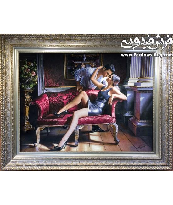 تابلو فرش دستباف طرح نامزد جدید تبریز