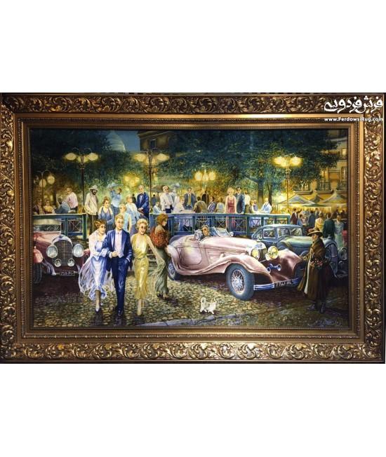 تابلو فرش دستباف جشن آمریکایی تبریز