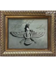 hand made tableau carpet  farvehar design tabriz,iran