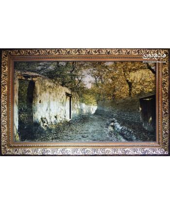 تابلو فرش دستباف منظره باغ بهشت بزرگ تبریز