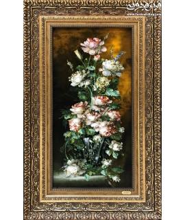 تابلو فرش دستباف گل آنتیک تبریز