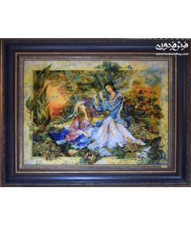 تابلو فرش دستباف نوای نی تبریز فروخته شده