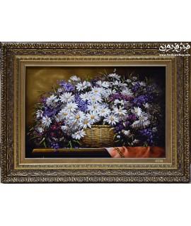 تابلو فرش دستباف گل بابونه رسولی تبریز تابلوفرش